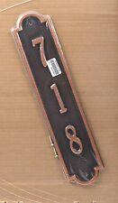 """*NEW* 718 Richmond Vertical House Number Plaque - Antique Copper - 19"""" x 4"""""""