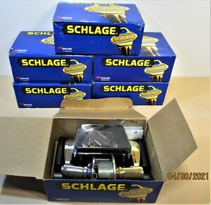 Schlage F40 ACC605 625 16-210 Privacy Door Lever Set Locking Latch Chrome Brass