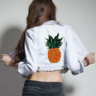 Pineapple Embroidered Sew Iron on Patch Badge Bag Clothes Dress Applique~