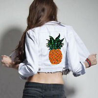 Pineapple DIY Embroidered Sew Iron on Patch Badge Bags Clothes Dress Applique