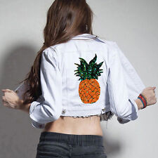 Pineapple DIY Embroidered Sew Iron on Patch Badge Clothes T-shirt Bag Applique