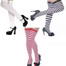 Collant, autoreggenti e parigine da donna al ginocchio a fantasia righe glamour