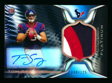 2014 TOPPS PLATINUM TOM SAVAGE RC BLACK REFRACTOR 3CLR PATCH AUTO SAINTS #90/125