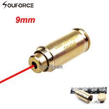 9mm Red Dot Laser Bore Sight Cartridge Brass Bullet Brass Boresighter& Batteries