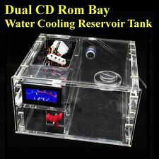 Dual CD Rom Bay Water Cooling Reservoir Tank G1/4 Thermometer Flowmeter Parts