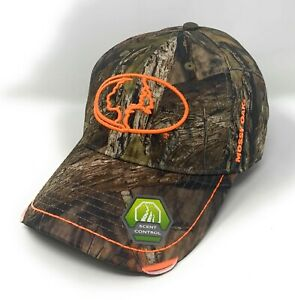 Mossy Oak Camo Hunting Hat Cap Stretch Fit - Scent Control -  Frayed Bill - NEW