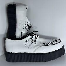 TUK Mondo Creeper White Leather Platform Shoes Size 13 Mens 15 Women's Two-Tone
