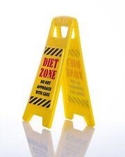 Dieta zona segnale di avvertimento per il tuo lavoro scrivania attenzione Babbo Natale Segreto Regalo Scherzo
