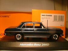 EXTREMELY RARE MAXICHAMPS 1/43 1973 MERCEDES-BENZ 200D (W114) SUPERB DETAIL NLA