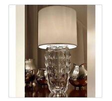 $2400 Baccarat Crystal Table Lamp Heritage Diamant  White Lampshade MIB 2807863