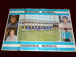 FIFA WORLD CUP Mexico 1986 ARGENTINA TEAM MARADONA Magazine/Poster 41,34 x 28,35