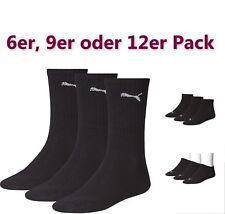 12,9,6 Paar Puma Tennissocken Sportsocken Sneaker Quarter Füßlinge  Socken black