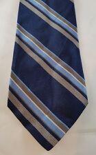 LANDS' END 100% Silk Men's Neck Tie NWOT Blue/Light Blue/Taupe