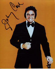 """JOHNNY CASH Signed Vintage Rare Color 8x10 """"The Man in Black"""" Photo Reprint"""