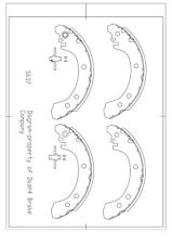 Drum Brake Shoe-Drum Rear Dash 4 Brake B637