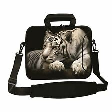 "15""-15.6""LAPTOP SLEEVE WITH HANDLE STRAP CARRY CASE BAG 4 ALL LAPTOPS *WHITE TIG"