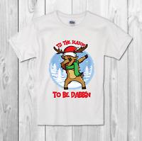 dabbing reindeer Kids T-shirt Boy /girl Christmas gift funny T-shirt xmas