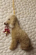 BEDLINGTON TERRIER LIVER dog hanging Christmas decoration. Part NEEDLE FELTED