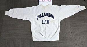 Vintage Champion Reverse Weave Villanova Law Sweatshirt XL