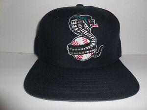 Vintage NWOT Kissimmee  Cobra Snap Back Hat Cap Minor League Baseball blk.