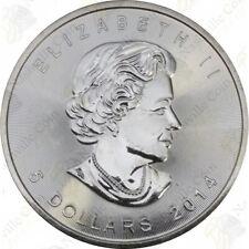2014 CANADIAN SILVER MAPLE LEAF — 1 OZ — UNCIRCULATED — SKU #12026