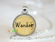Wander Free Spirit  glass dome Tibet silver Chain Pendant Necklace wholesale