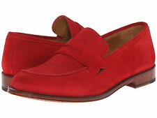 "$455 Paul Smith ""Gifford"" Loader in Red Suede US 12 /UK 11 / EUR45. Really nice!"