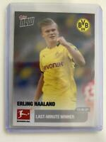 Topps NOW ERLING HAALAND Bundesliga 2020 Rookie Card 173 Last-Minute BVB UEFA RC