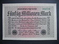 GERMANY  50 Millionen Mark 1.9.1923  Ros. 108c  (P109a)  UNC