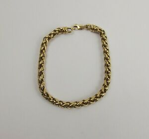9ct Yellow Gold Rope Link Bracelet