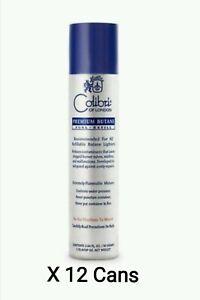 12 x Colibri Of London Premium 50 grams Lighter Gas Butane Pure Fuel 3.04fl.oz