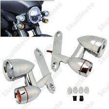 Chrome Fairing Mounted Driving Lights with Turn Signals For Harley Touring CVO