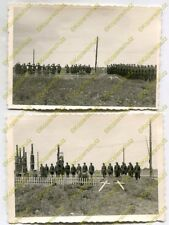 2x Foto, Entgiftungs-Abteilung 103, Beerdigung Zeidler etc., Szloboda a (N)20074