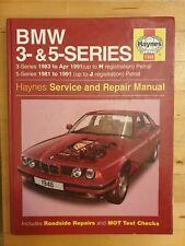 BMW 3-SERIES (E30)  & 5-Series (E28 & E34) Haynes Manual 1981-1991