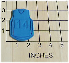 Basketball Jersey with Changeable Number Set Fondant Cookie Cutter #1184