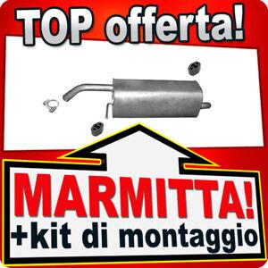 Silenziatore Posteriore FORD FIESTA VI 1.25 1.4 16V 2008-2012 Marmitta BDE