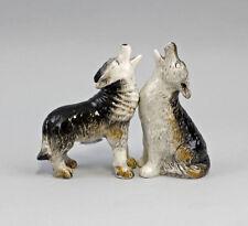 9976109 Sal/Pimienta Esparcidor wolf lobos aullando Perro Cerámica h8cm