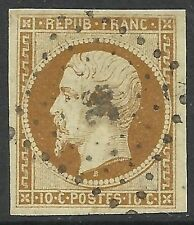FRANCE. 1852. 10c Bistre Brown. SG: 37. Fine Used. Cat £1000.00.