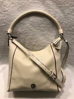 NWT Giani Bernini Braid Handle Pebble Hobo - Ivory MSRP $169