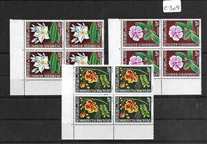 SMT 158, Niger set of 3 stamps in block of 4, MNH, RRR