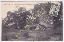 CPA COCHINCHINE SAÏGON Campement de chasseurs en pleine forêt Edit POUJADE 143