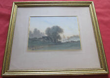 """Superbe aquarelle 19 é par ARMAND GUERY """" la chaumière """""""