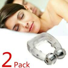 2 Snore Free Nose Clip Solution Cure Stop Snoring Sleep Magnetic Ring Night Anti