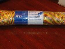 """RTI Diamond Braid Nylon Rope - YELLOW, RED, BLUE - 3/16"""" x 150'     (M-702)"""
