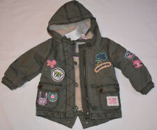 BABY NEXT9-12 MONTHS 'SMILES ARE FREE' GREEN KHAKI COAT EXCELLENT BNWT CONDITION