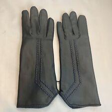 Vtg Soft Blue Vinyl Driving Gloves ~ Women's Size S/M New