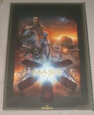 Mass Effect Saga 1 2 3 Limited Collectors Lithograph Rare - Signed Sam Spratt