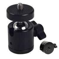 """Black Ball Head Bracket Holder for 1/4"""" Screw Mount Tripod DSLR Camera  New"""
