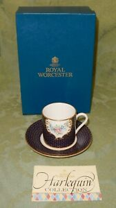Vintage Royal Worcester Harlequin Collection Cup & Saucer Chamberlain's Rose