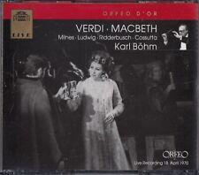 Verdi: Macbeth, Live Opera 1970 2-CD -Karl Bohm (Sherrill Milnes/Christa Ludwig)
